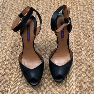 Ralph Lauren collection heels with ankle strap